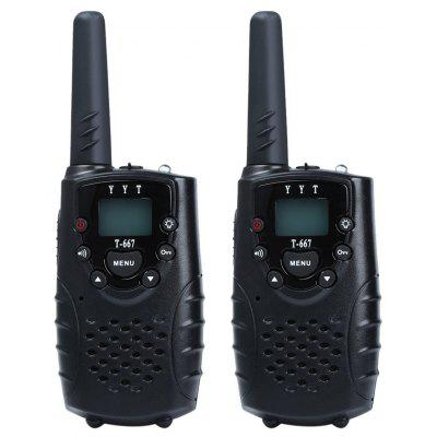 T-667 2pcs 22 Channel Walkie Talkie with Flashlight