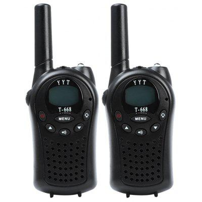 T-668 2pcs 22 Channel Walkie Talkie with Flashlight