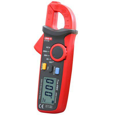 UNI-T UT210B LCD Digital Clamp MeterMultimeters &amp; Fitting<br>UNI-T UT210B LCD Digital Clamp Meter<br><br>AC Current: 20A / 200A<br>Auto power off: Yes<br>Backlit Display: Yes<br>Data Hold: Yes<br>Input Impedance: More than 10MOhm<br>Max. Display: 1999<br>Model: UT210D<br>Operation Method: Auto Range,Manual Range<br>Package Contents: 1 x LCD Digital Clamp Meter, 2 x AA Battery, 1 x Chinese Manual<br>Package size (L x W x H): 18.60 x 7.20 x 5.90 cm / 7.32 x 2.83 x 2.32 inches<br>Package weight: 0.300 kg<br>Powered by: 2 x AA Battery<br>Product size (L x W x H): 17.50 x 6.00 x 3.35 cm / 6.89 x 2.36 x 1.32 inches<br>Product weight: 0.170 kg<br>Type: Clamp Meter