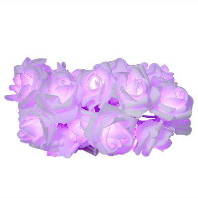 EVA 20 LED Emulational Rose LED String Lights Flower Decorative Lamps