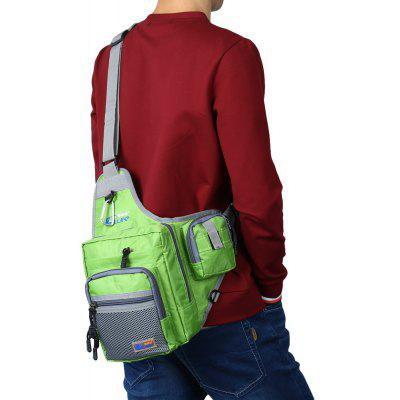 Canvas Waterproof Fishing Tackle Bag Shoulder Waist Pack