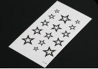 Fashion Star Pattern Removable Waterproof Tattoos Stickers - BLACK