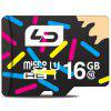LD 16GB Micro SD Memory Card - COLORMIX