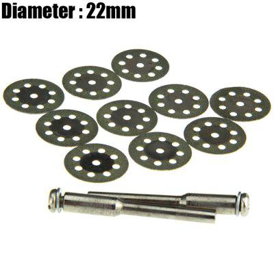 12PCS 22mm 8-hole Diamond Saw Blade Jade / Glass / Stone Grinding Plate