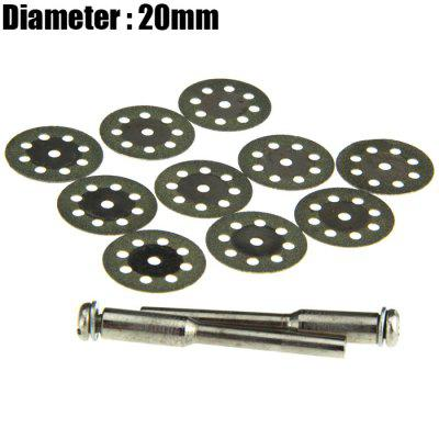 12PCS 20mm 8-hole Diamond Saw Blade Jade / Glass / Stone Grinding Plate