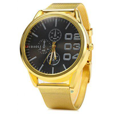 JUBAOLI Big Dial Wristwatch Men Quartz Watch Steel Band