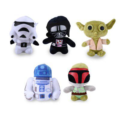 7 inch Movie Character Plush Toy with Sucker Stuffed Doll Gift 5Pcs / Set
