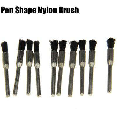 10PCS Pen Shape Grinding Polishing Buffing Bur Nylon Brush