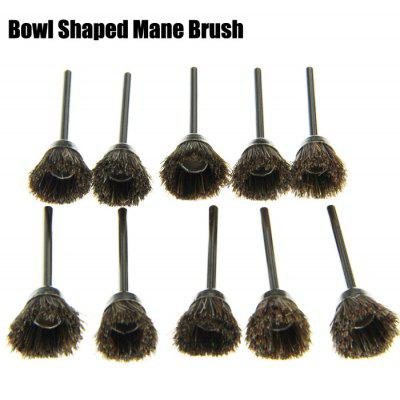 10PCS Bowl Shape Grinding Polishing Buffing Bur Mane Brush