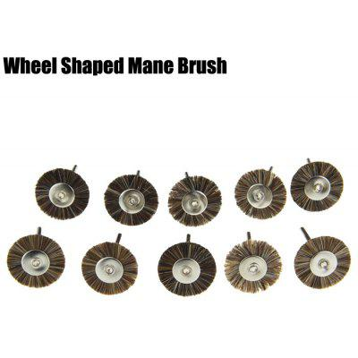 10PCS Wheel Shape Grinding Polishing Buffing Bur Mane Brush