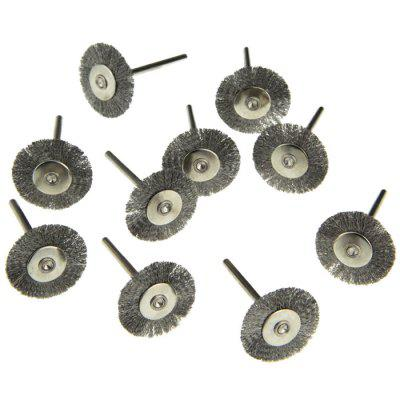 10PCS Steel Wire Wheel Head Polishing Brush Grinder Rotary Tool