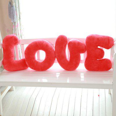16 inch Love Alphabet Plush Pillow Girl Sweet Dream