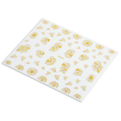 Fashion 3D DIY Gold Silver Jewelry Manicure Nail Sticker