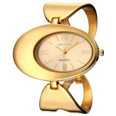 Weiqin 2697 Hollow Out Alloy Band Women Japan Quartz Watch