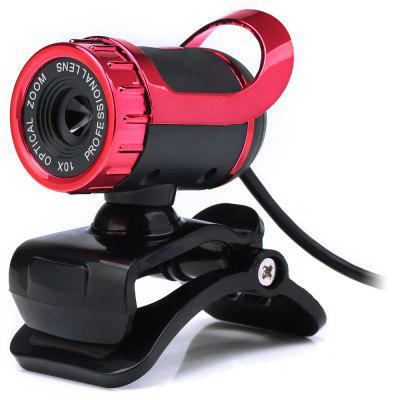 HD Clip-on Webcam Web PC Camera with Built-in Microphone