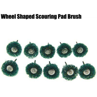 10PCS Wheel Shape Grinding Polishing Buffing Bur Scouring Pad Brush