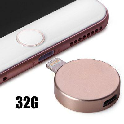 P6 Round Shape 32GB Micro USB 8Pin OTG Flash Drive