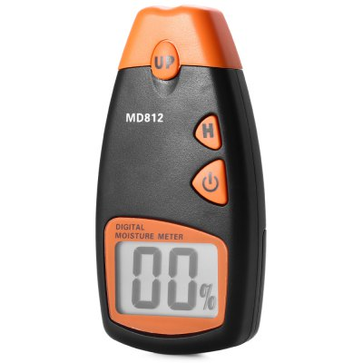 MD-812 Professional Digital LCD Wood Moisture Tester Humidity Meter with Low Battery Indication