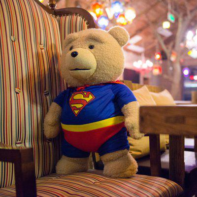 16 inch Super Man Ted Bear Talking and Singing Plush Toy Movie Theme Home Decoration Girl Sweet Dream