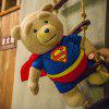16 inch Super Man Ted Bear Talking and Singing Plush Toy Movie Theme Home Decoration Girl Sweet Dream - COLORMIX