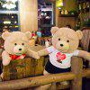 16 inch Ted Bear in White Shirt Talking and Singing Plush Toy Movie Theme Home Decoration Sweet Dream - COLORMIX
