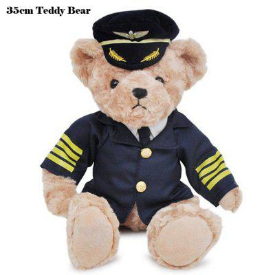 35cm Uniform Teddy Bear Stuffed Toy Love Doll Valentine Present