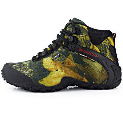 BAIDENG Male Camouflage High Boot Climbing Shoes