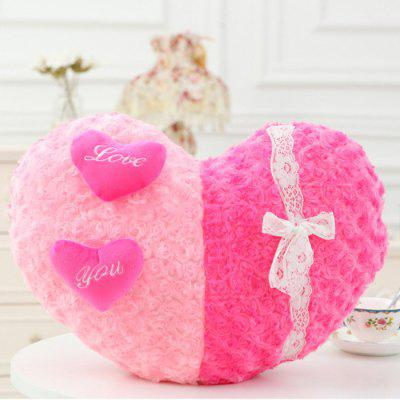 20 inch Heart Shape with Lace Plush Toy Animal Home Decoration Girl Sweet Dream