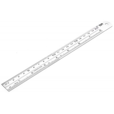 THD TH05021 Stainless Steel Double Sided Scale Ruler