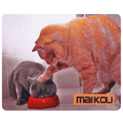 Maikou Mouse Pad Two CatsMouse<br>Maikou Mouse Pad Two Cats<br><br>Package Contents: 1 x Mousepad<br>Package size (L x W x H): 18.000 x 4.000 x 4.000 cm / 7.087 x 1.575 x 1.575 inches<br>Package weight: 0.080 kg<br>Product size (L x W x H): 21.500 x 18.000 x 0.200 cm / 8.465 x 7.087 x 0.079 inches<br>Product weight: 0.059 kg<br>Type: Mouse Pad