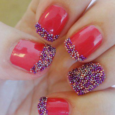 12 Color 3D DIY Colorful Beads Nail Decoration