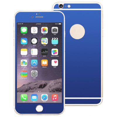 Angibabe Tempered Glass Screen Film Back Protector for iPhone 6 / 6S Electroplated Mirror