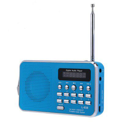 L - 938 Portable FM Radio MP3 Player