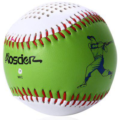 Aosder BL001 Baseball Wireless Bluetooth Rechargeable SpeakerSpeakers<br>Aosder BL001 Baseball Wireless Bluetooth Rechargeable Speaker<br><br>Audio Source: Bluetooth Enabled Devices<br>Battery Capacity: 600mAh<br>Battery Type: Lithium Battery<br>Battery Voltage: DC 5V<br>Bluetooth Version: V3.0<br>Certificate: CE,FCC<br>Color: Red,Green,Orange,Yellow,White<br>Compatible with: Tablet PC, Laptop, MP5, iPhone, MP3, MP4, PC, iPod, Mobile phone<br>Connection: Wireless<br>Design: Stylish, Portable, Cool, Multifunctional, Sport<br>Driver unit: 45mm<br>Freq: 150Hz-18KHz<br>Interface: Microphone, Micro USB<br>Package Contents: 1 x Aosder BL001 Baseball Shape Wireless Bluetooth Speaker Music Player, 1 x USB Charging Cable, 1 x Bilingual Manual in Chinese / English<br>Package size (L x W x H): 10.10 x 8.30 x 8.30 cm / 3.98 x 3.27 x 3.27 inches<br>Package weight: 0.229 kg<br>Power Output: 3W<br>Power Source: Battery,USB<br>Product size (L x W x H): 6.70 x 6.70 x 6.70 cm / 2.64 x 2.64 x 2.64 inches<br>Product weight: 0.147 kg<br>S/N: 80dB<br>Speaker Accommodation: Button<br>Speaker Impedance: 4 ohm<br>Supports: Microphone, Bluetooth, Hands-free Calls