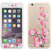 Angibabe 2 in 1 Tempered Glass Screen Film Back Protector for iPhone 6 Plus / 6S Plus Flower - PINK