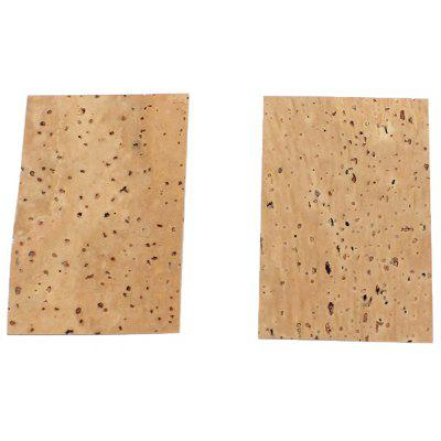 2Pcs Wooden Neck Cork Sheet for Saxophone Instrument Accessory