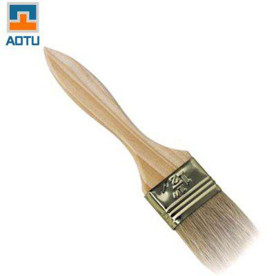 AOTU Pig Hair Barbecue Brush with Wooden Handle