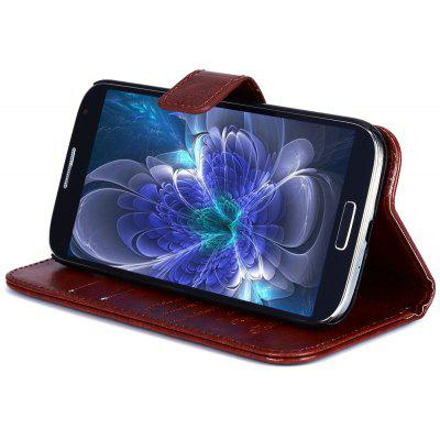 Magnetic Card Slot Wallet Stand Leather Flip Case for Samsung S4