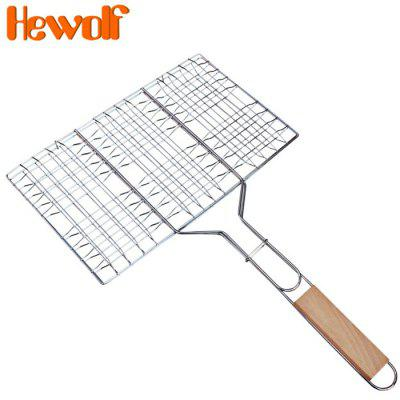 Hewolf 1297 Non-Stick Rectangle Grill Basket