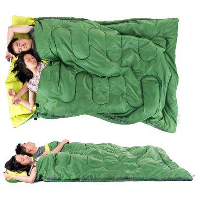 Naturehike 2 Person Sleeping Bag With Pillow Blue Gray Green