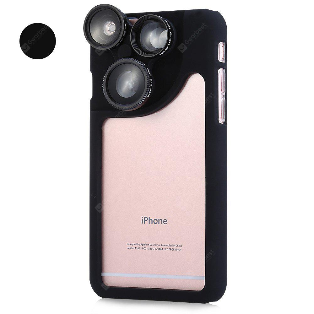 4-in-1 Phone Protective Case Lens Kit for iPhone 6 Plus / 6S Plus