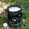 ALOCS 10 Piece Set Camping Pot with Windproof System photo