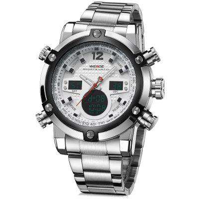 Weide 5205 Multifunctional Dual Movt Male LED Sports Watch