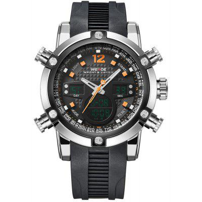Weide 5205 Water Resistant Dual Movt Male LED Sports Watch