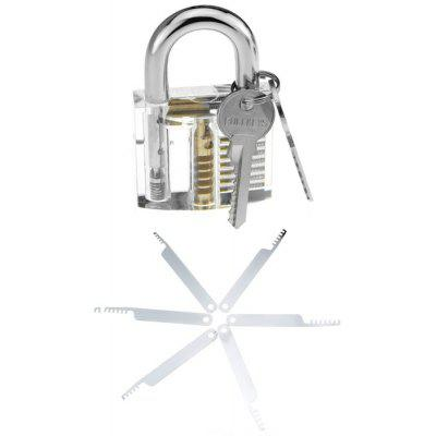 Large Transparent Practice Lock Tool Set
