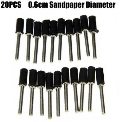 20PCS Sanding Paper Fixed Mandrel