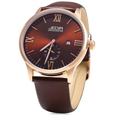 JEDIR 2011AG Genuine Leather Band Men Quartz Watch