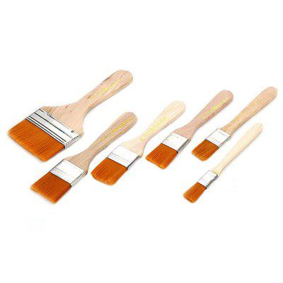 Soft Hair Wood Handle PCB Cleaning Flat Brush - 6PCS