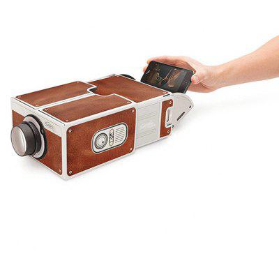 Portable Family / Couple Theater Film Cardboard Phone Projector Holiday Fun