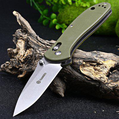 Buy Ganzo G7392-GR Portable Axis Lock Pocket Knife ARMY GREEN for $19.60 in GearBest store